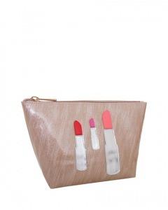 Lolo BagsMedium Avery Cosmetics Bag, Brushed Rose Gold Lipstick